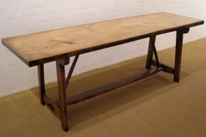 Harvest table - traditional timber table hand crafted by Greg Stirling