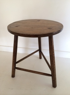 three leg solid timber table, cricket table